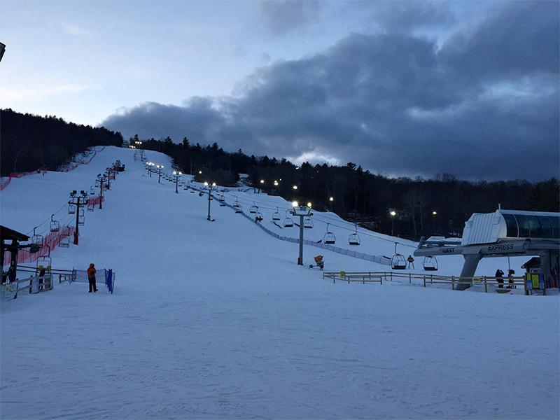 ski slope at West Mountain