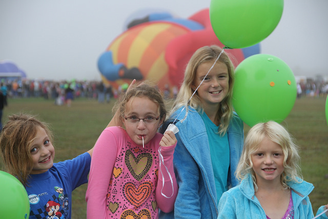 Young girls enjoying the Adirondack Balloon Festival