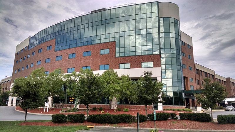 Exterior shot of Glens Falls Hospital