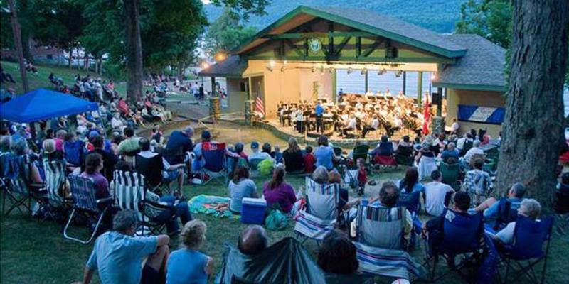 crowd at Lake George Music Festival