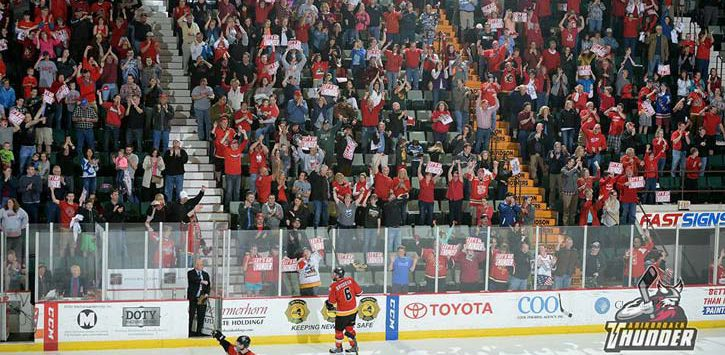crowd photo of the adk thunder