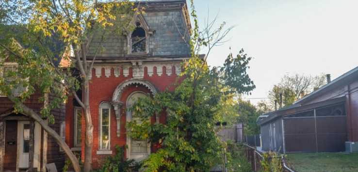 One of the last remaining Second-Empire Style homes in Glens Falls stands in disrepair at 5 Culvert Street