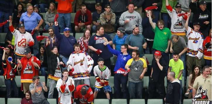 adirondack thunder fans in crowd