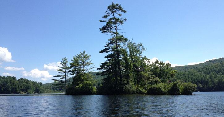 ivy island in Lake Luzerne