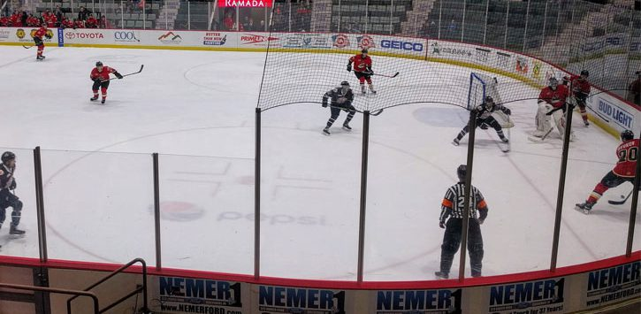 an Adirondack Thunder game in play