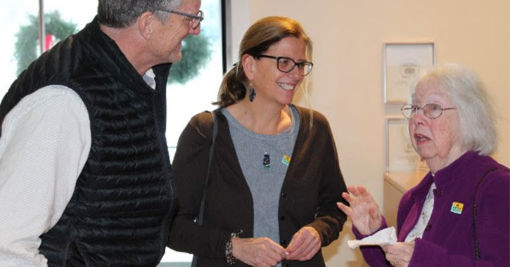 three people speak at the hyde collection
