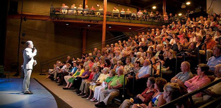 crowd at a play