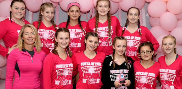 power of pink, qby varsity team