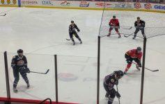 a hockey game