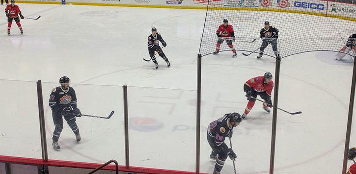 hockey teams at play