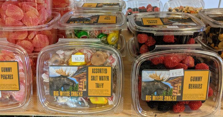 Big Moose brand packaged snack items
