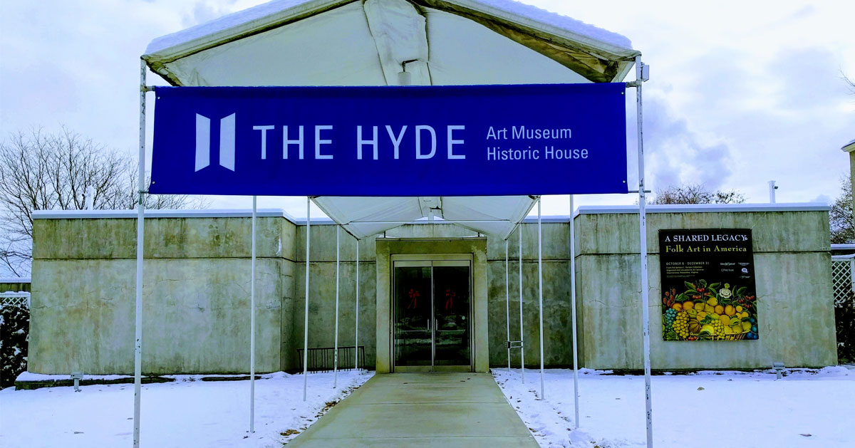 the entrance to The Hyde