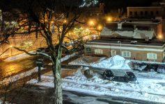 snowy Glens Falls