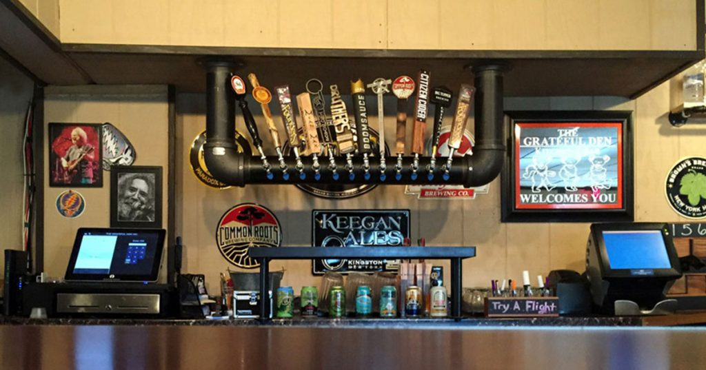 bar and beer taps