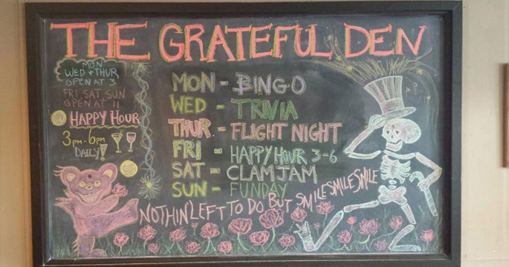 grateful den specials board
