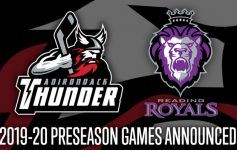 promotional image for the thunder vs royals preseason game