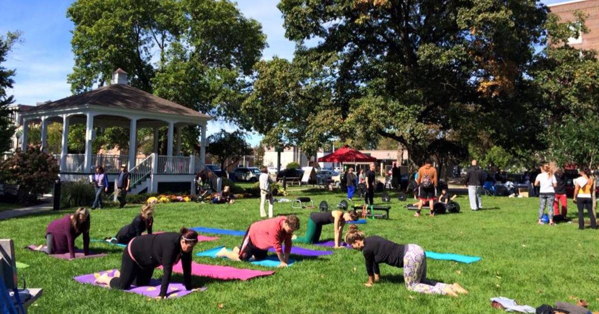 Fit Fest event in park