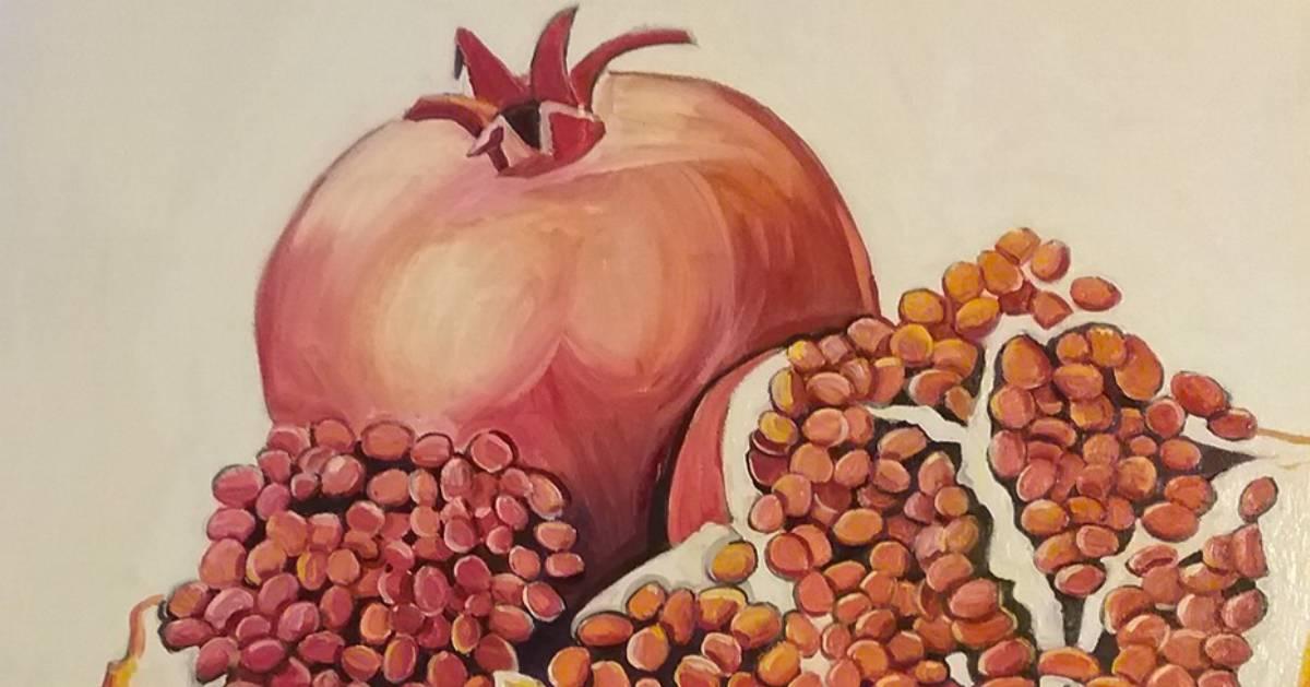 painting of pomegranates