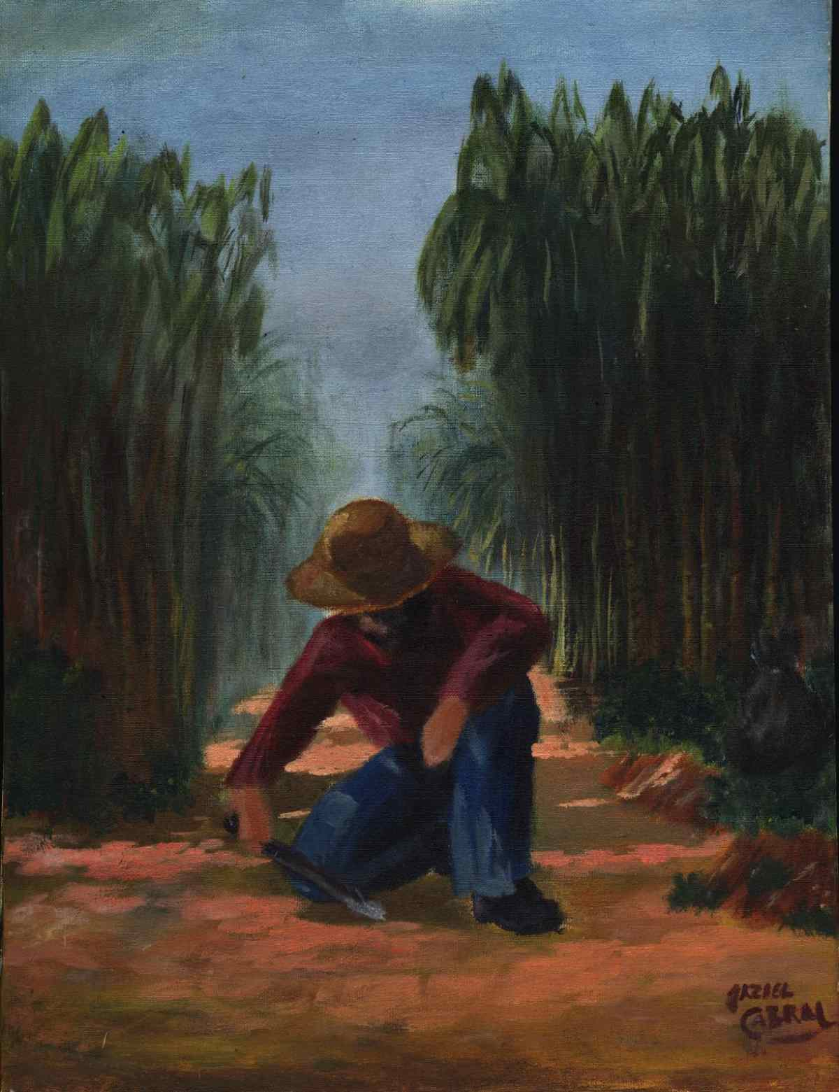 a painting by a young artist