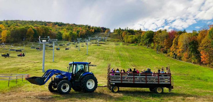 hayride at west mountain fall festival