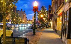 street in Glens Falls in winter