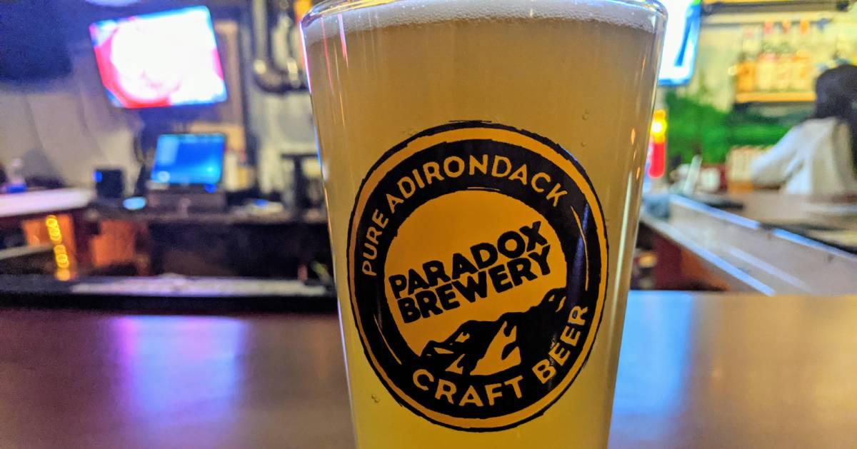 beer glass on bar