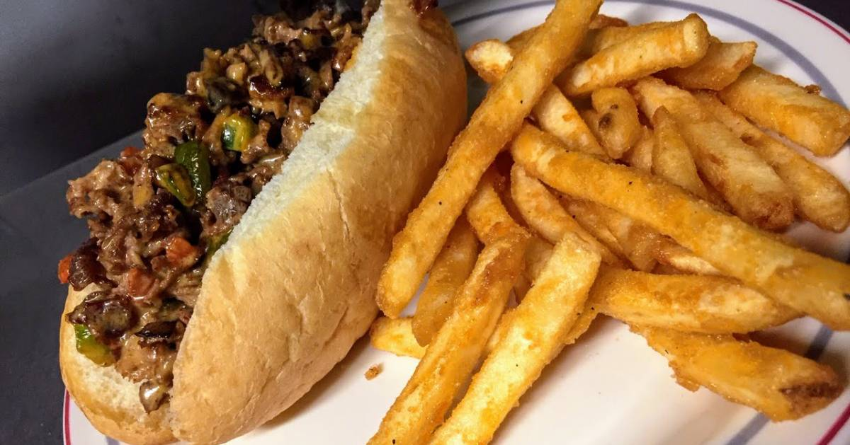 Philly cheesesteak with fries