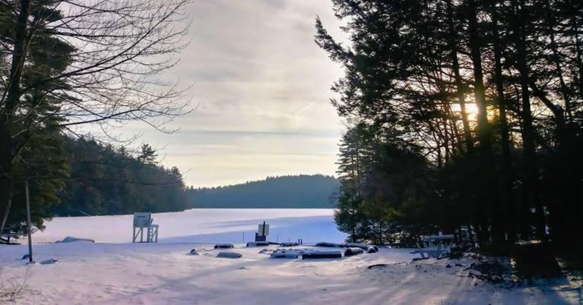 winter view of lake