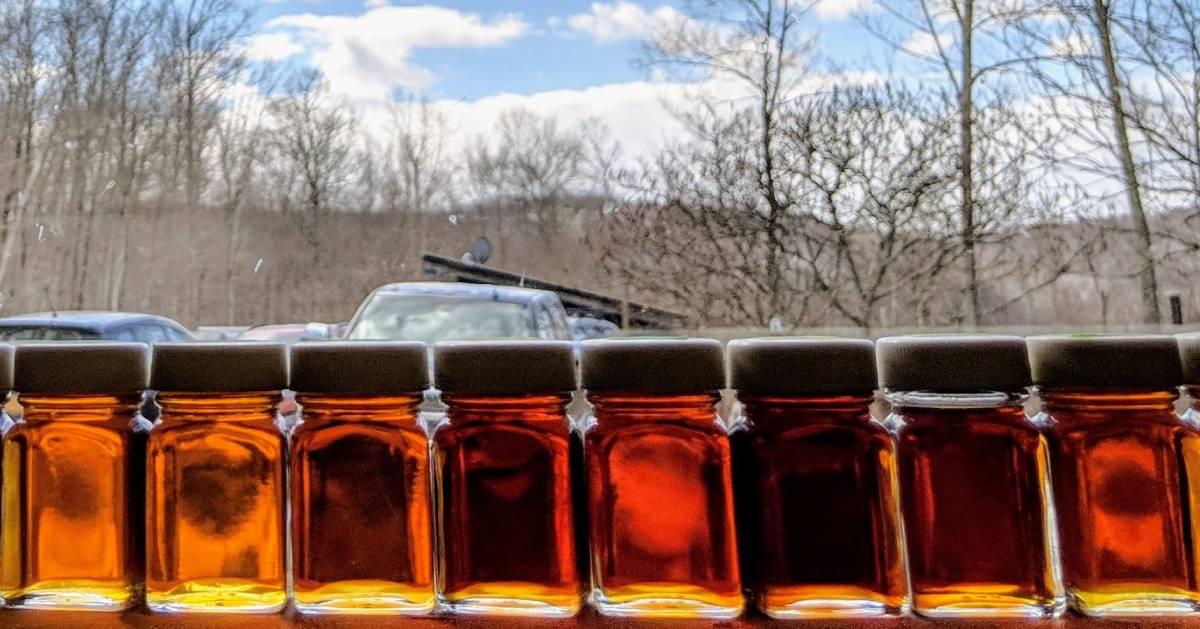 maple jars in window