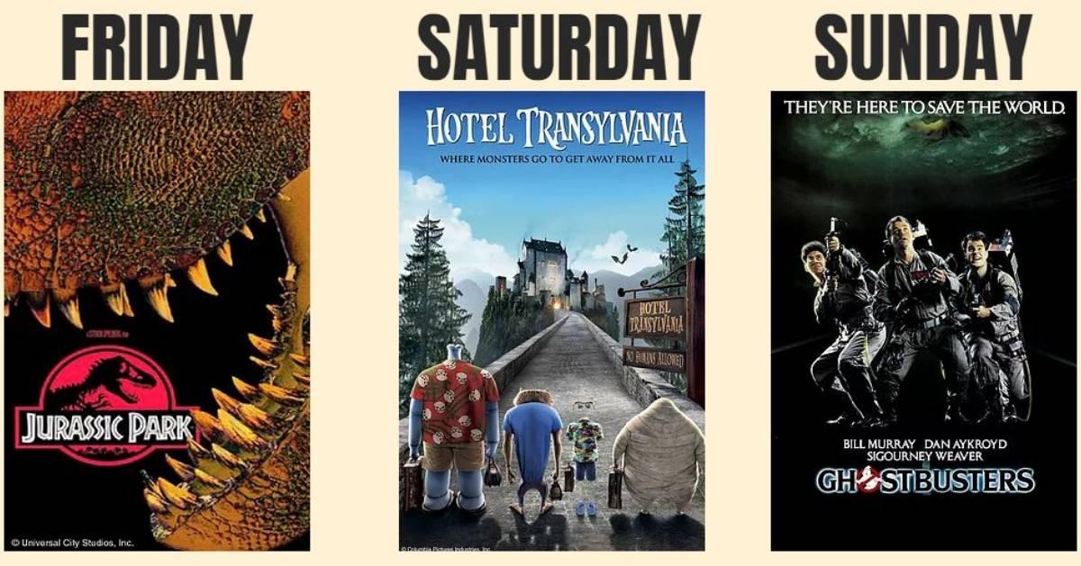three movies