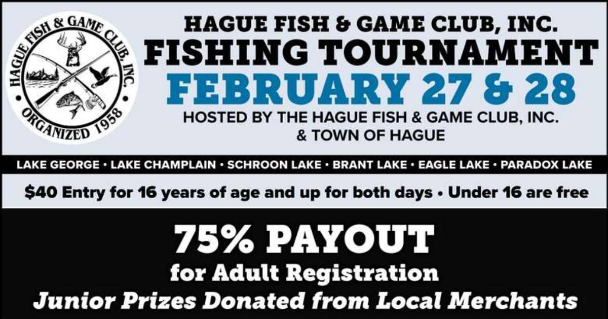 Hague fishing tournament poster
