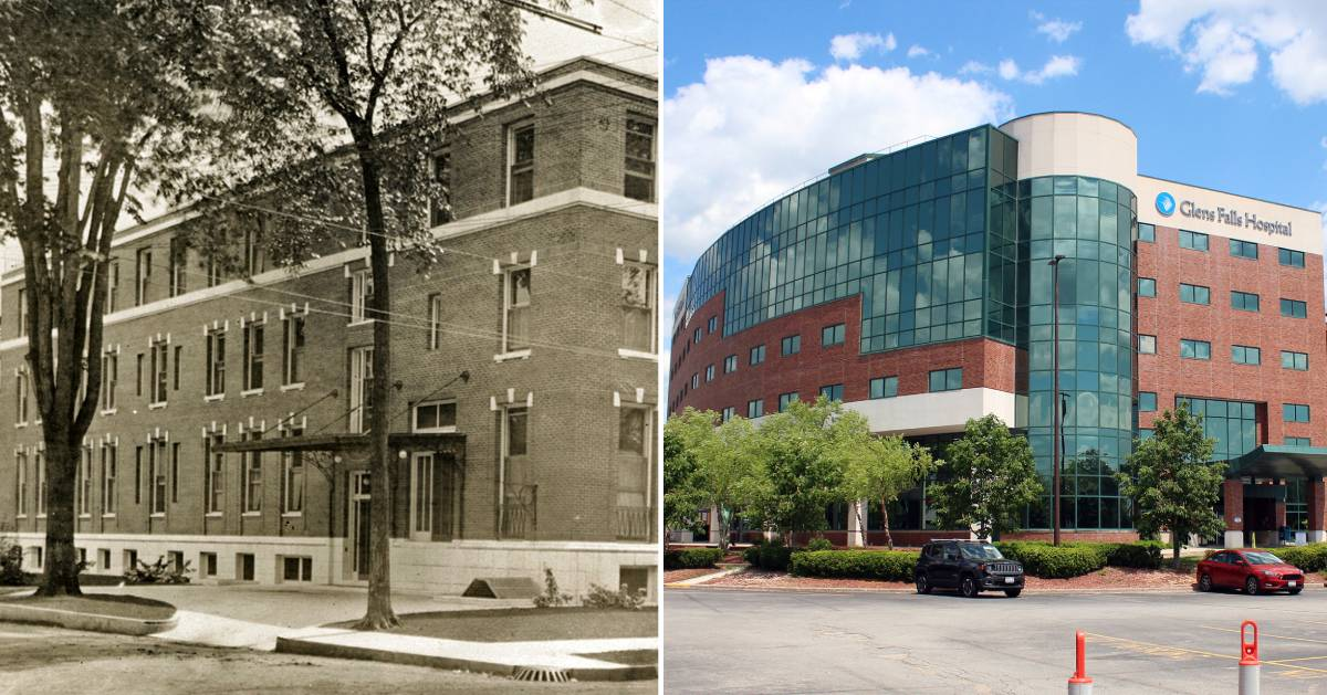 before and after shots of Glens Falls Hospital