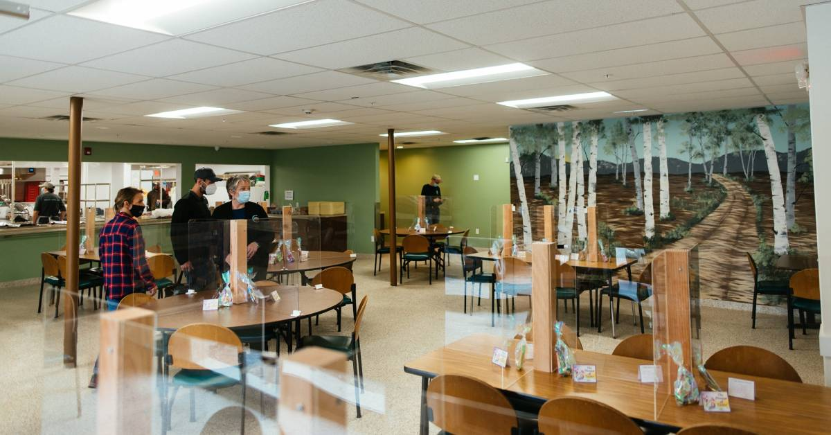 soup kitchen dining area