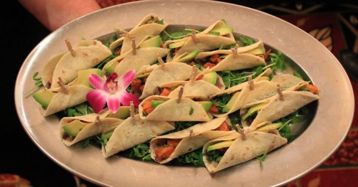 international cuisine on plate