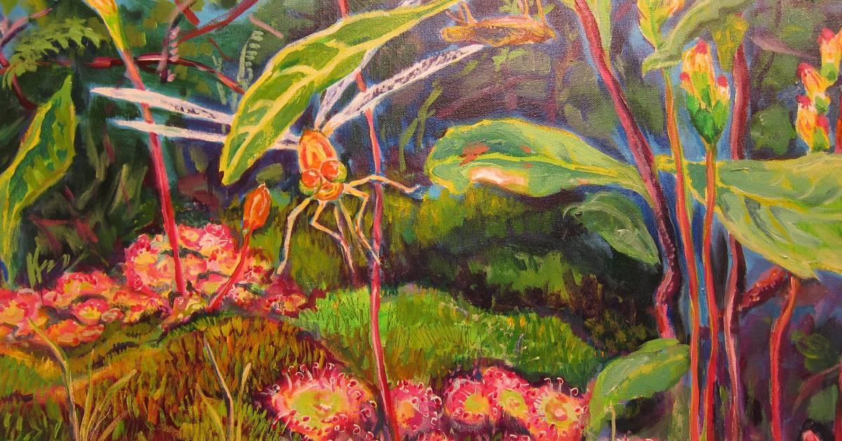 bug garden painting