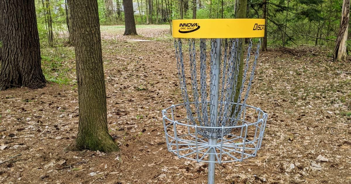 disc golf course basket