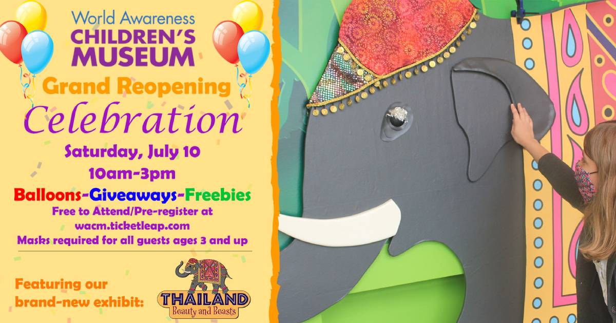 event poster with elephant
