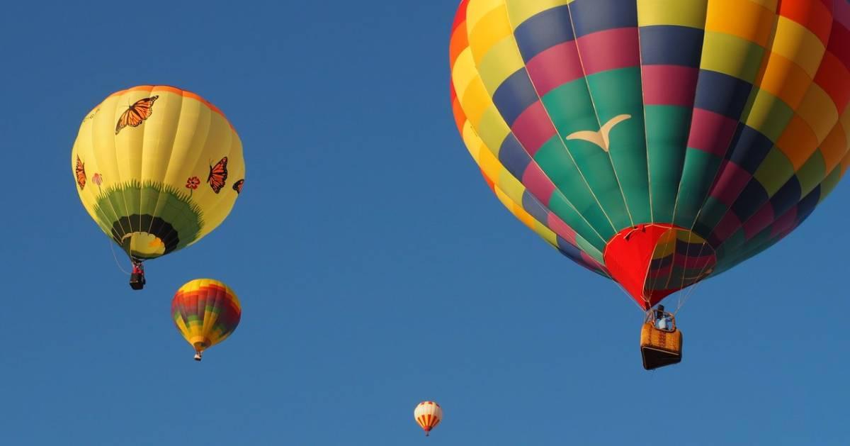 hot air balloons