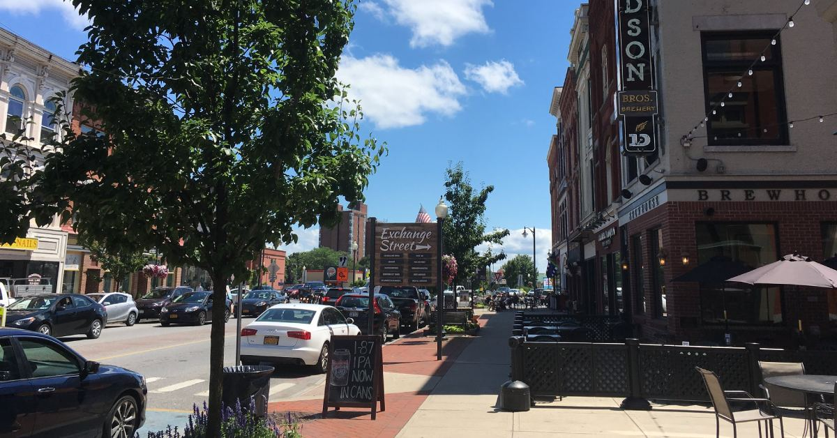 view of downtown glens falls