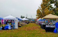 vendors set up for festival in fall